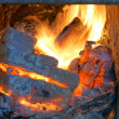 Old fireplace, stove, fire — Stock Photo #13822726