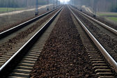 Tren yolu izler — Stok fotoğraf