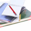 Notebooks and pensils - school supplies — Stock Photo
