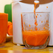 Carrot Juice in Glass, juicer — Stock Photo #13905017