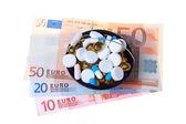 Money and pills — Stock Photo