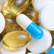Pharmaceuticals macro background — Stock Photo