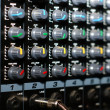 Mixing board, detail music accessories — Stock Photo