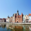 Old port in gdansk - the free city of Gdansk - 2009 Danzig, Poland — Stock Photo