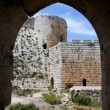 Krak des Chevaliers, citadel tower, fortification castle walls , crusaders fortress, Syria — Stock Photo #14616245