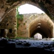 Krak des Chevaliers, citadel tower, fortification castle walls , crusaders fortress, Syria — Foto de Stock