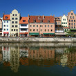 Stock Photo: Old port in Gdansk - the free city of Gdansk - 2009 Danzig, Poland
