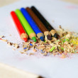 Stock Photo: Sharpened colored pencils