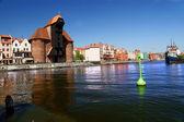 Gdansk, danzig, polonia famosa de madera grúa desde el siglo xiii — Foto de Stock