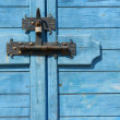 Stock Photo: Bolted shut door - Locked