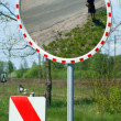 Mirror for security and traffic safety — Stock Photo
