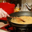 Skillet with rice — Stock Photo #16331117