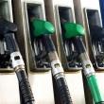 Gas pump handles, nozzles — Stock Photo
