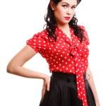 Pin-up girl American style retro woman — Stock Photo #17451617