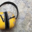 Ear protection factory noise muffs Yellow — Stock Photo #17623477