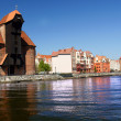 Gdansk, Danzig, Poland famous wooden crane from the 13th century — Stock Photo