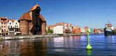 Gdansk, Danzig, Poland famous wooden crane from the 13th century — Stockfoto