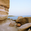Rock cliff and sea — Stock Photo