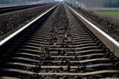 Rail Road Tracks - electrical — Stock Photo