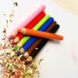 Sharpened colored pencils — Stock Photo #18186397