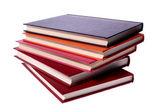 Pila de libros de tapa dura aislado en blanco — Foto de Stock