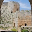 Stock Photo: Krak des Chevaliers, citadel tower, fortification castle walls , crusaders fortress, Syria