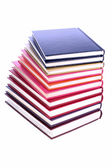 Hardcover books stack isolated on white — Stock Photo
