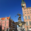 Neptun sculpture in Gdansk - Fountain - Stock Photo