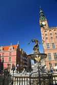 Neptun sculpture in Gdansk - Fountain — Stock Photo