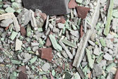Close up of an old pile of bricks floor tile — Stock Photo