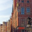 Neptun sculpture in Gdansk - Fountain - Stockfoto