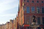 Neptun sculpture in Gdansk - Fountain — Stock Photo