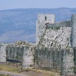 Krak des Chevaliers, crusaders fortress, Syria - Stock Photo