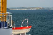 Costa turca de barco - dardanelos — Foto Stock