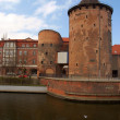 Gdansk, Danzig, Poland, famous a round tower - Stock Photo