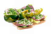 Sandwich chive pepper — Stock Photo