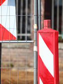 Traffic signs Road Closed warning sign — Stock Photo