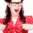 Royalty-Free Stock Photo: Beautiful young woman shouting screaming