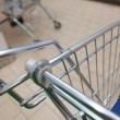 View of a shopping cart with grocery items — Stockfoto #20406343