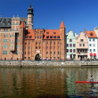 Gdansk, Danzig, Poland  shoreline from the 13th century - Stock Photo