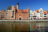Gdansk, Danzig, Poland shoreline from the 13th century — Stock Photo