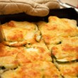 Courgette potatoes or potato au gratin — Stock Photo