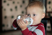 Baby boy having his bottle — Stock Photo
