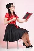 Mujer joven, estudiante o maestro — Foto de Stock