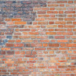 Background of red brick wall texture — Stok fotoğraf