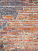 Background of red brick wall texture — Stock Photo