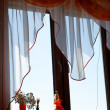 Blue sky in a window - Stock Photo