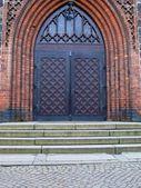 Een oude metalen deur handvat — Stockfoto