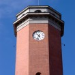 Historical Medieval Town Hall clock tower from poland — Stock Photo