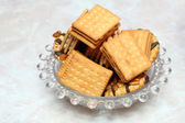Closeup cookie biscuits on the table — Stock Photo